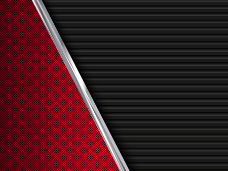 Czarne i czerwone metalowe tła. Streszczenie ilustracji wektorowych EPS10
