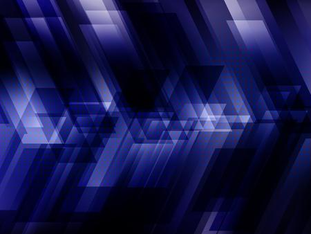 digital illustration: Abstract digital technology background with blue stripes. Vector illustration