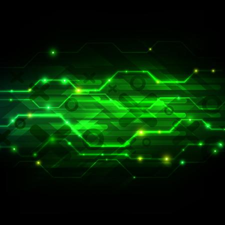 Digital technology background. Futuristic Interface. Abstract vector illustration Ilustração