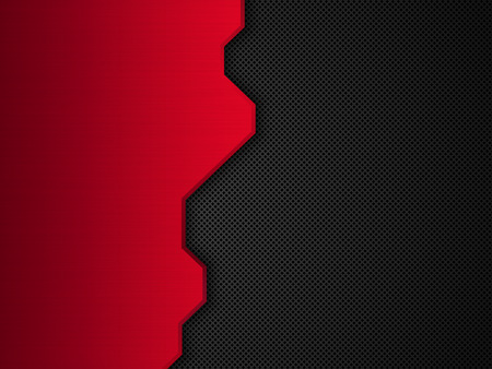 ironworks: Red and black metallic background. Abstract vector illustration