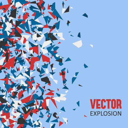 Colorful explosion, abstract vector illustration