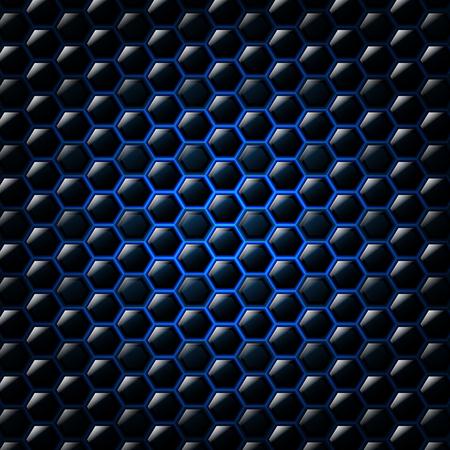 Zusammenfassung blauem Hintergrund mit Sechsecken. Vektor-Illustration