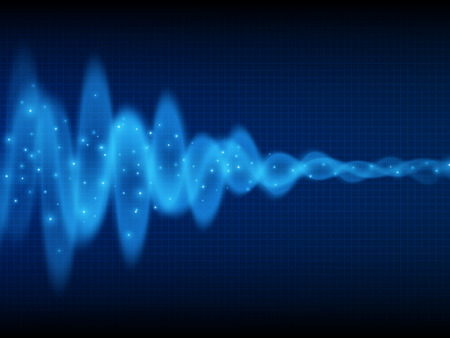 audio wave: Sound wave. Music background. Energy flow. Audio wave design. Abstract technology background Illustration