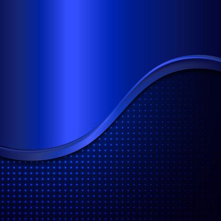 blue metallic background: Abstract metal background. Abstract blue background with metallic wave. Illustration