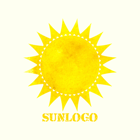 sunshine abstract: Sun logo. Watercolor sun. Sun icon. Vector illustration