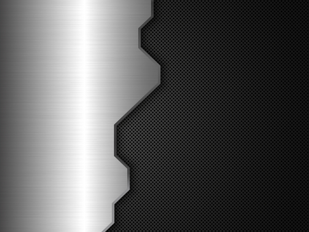 ironworks: Silver and black metal background. Abstract vector illustration
