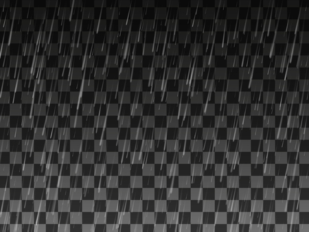 humidity: Rain. Background with rain. Rain drops on the transparent background. Rainy weather. Illustration