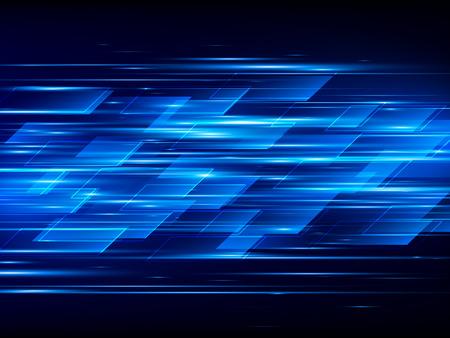 Schnelle Geschwindigkeit. Hallo-Tech. Zusammenfassung Technologie Hintergrund. Vektor-Illustration Standard-Bild - 58537213