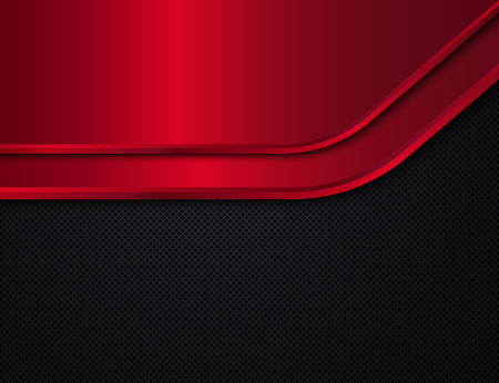 ironworks: Black and red metal background. Vector design template