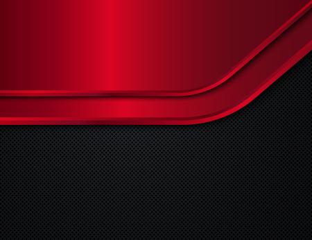 Schwarzer und roter Metallhintergrund. Vektor-Design-Vorlage Standard-Bild - 58537247