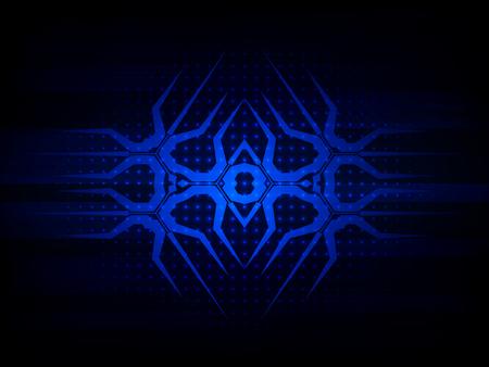 computer hardware: Abstract blue futuristic digital technology background. Vector illustration Illustration