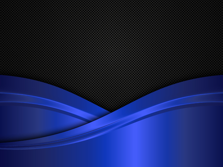 blue metallic background: Metal background with blue waves. Black and blue metallic background.