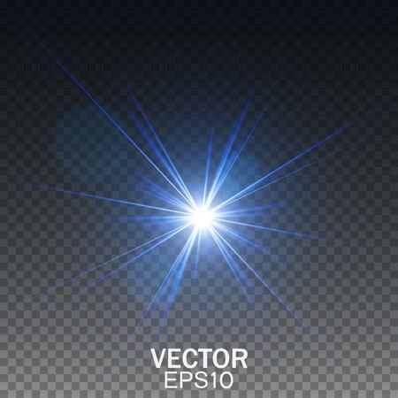 effect: Glow light effect. Transparent light effect. Lens flare effect.