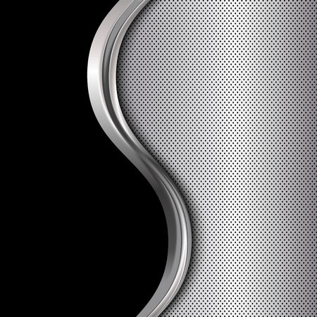 black metallic background: Silver and black metallic background.