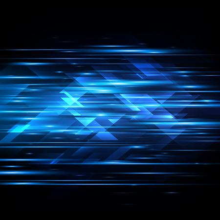 High speed. Hi-tech. Abstract technology background. Vector illustration Illustration