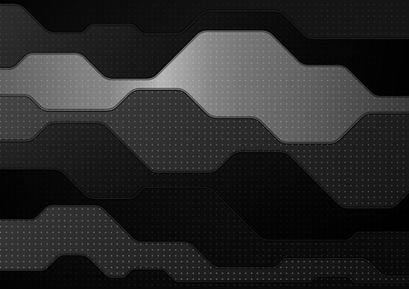 Abstract technology background. Black and white geometric background. EPS10