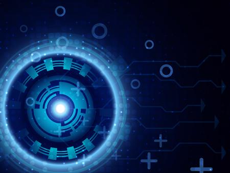 Fondo azul futurista abstracto de la tecnología digital. Ilustración de vector EPS10