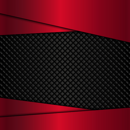 red metal: Red metal plate on a black metal texture. Vector illustration EPS10