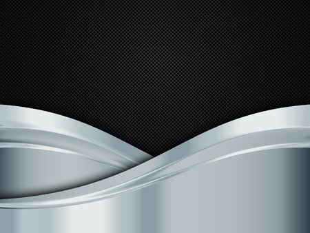 black metallic background: Silver and black metallic background. Abstract vector illustration EPS10