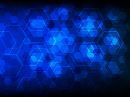 telecoms: Background with hexagons. Hi-tech digital technology concept, abstract background. Vector illustration EPS10