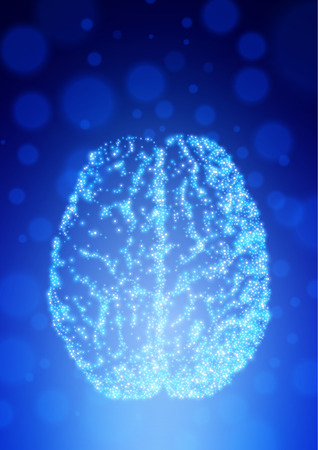 Background with brain. The concept of thinking. Brain neurons. Abstract technology background. Illustration