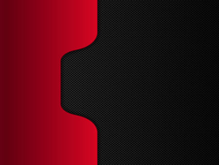 Black and red metal background. Vector design template