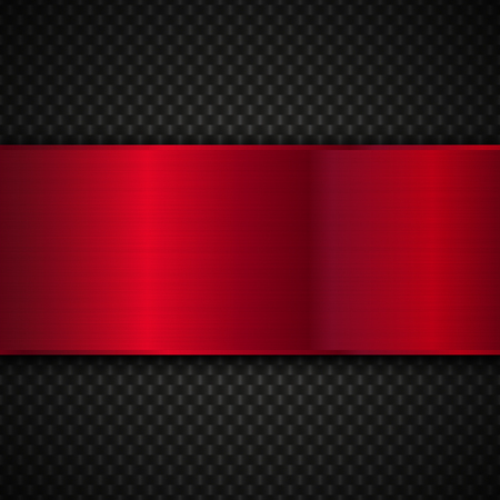 ironworks: Red and black metallic background. Abstract vector metal background.