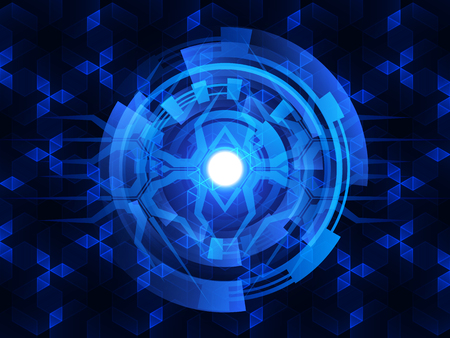 digital background: digital technology concept abstract background.