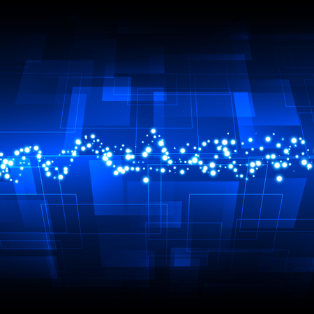 digital background: Abstract blue digital technology background. Illustration