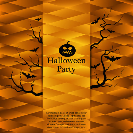 halloween party: Halloween party poster.
