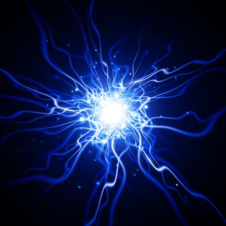 effect: Lightning effect. Glow light effect. Vector background