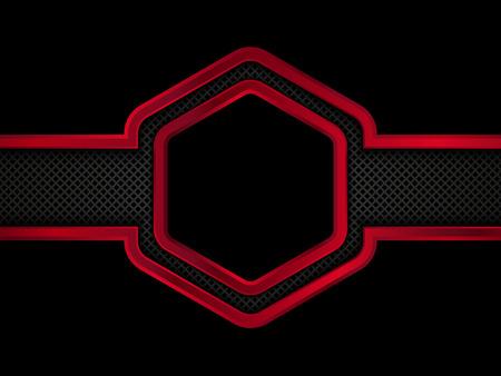 ironworks: Red and black metallic background. Illustration