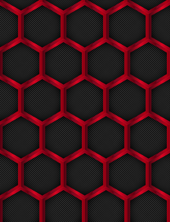 honey comb: Seamless pattern. Metal Background. Hexagonal, Honey Comb Stainless Steel Mesh. Illustration