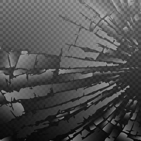 demolishing: Abstract broken glass background. Illustration