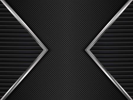 Schwarz Metall Textur Hintergrund.