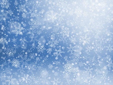 Falling snow texture. Winter festive background.