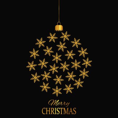 christmas greeting: Christmas Greeting Card. Christmas Ball.