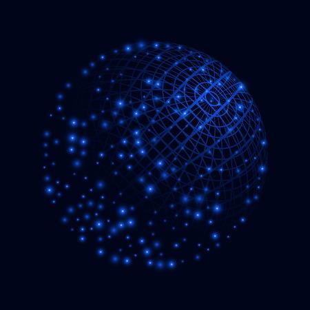 Globe background. Blue technology vector illustration. EPS10 Illustration