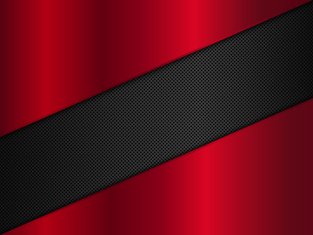 metal plate: Black and red metal background. Illustration