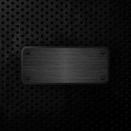 steel sheet: Black grunge metal background. Steel Plate. Vector illustration
