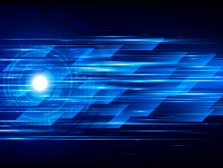 high speed: High speed. Abstract technology background. Vector illustration