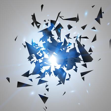 抽象的な黒い爆発。幾何学的な背景。ベクトル図  イラスト・ベクター素材