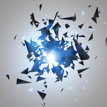 Abstract black explosion. Geometric background. Vector illustration Illustration