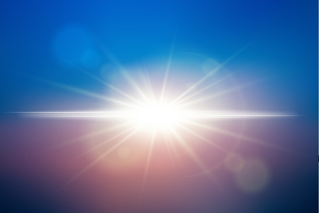 Sunlight background. Vector lens flare effect. EPS10