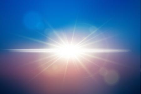 golden dusk: Sunlight background. Vector lens flare effect. EPS10