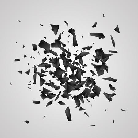 Black explosion Abstract vector illustration
