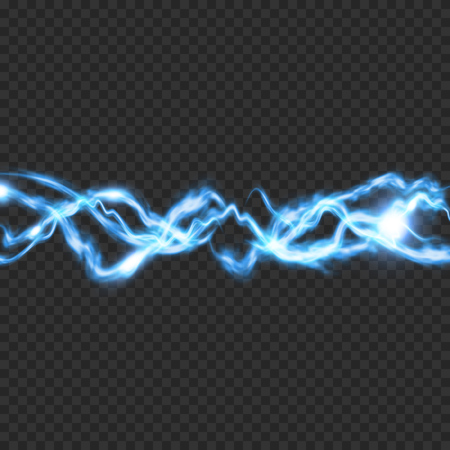 Electric lighting transparent effect. Abstract vector illustration EPS10