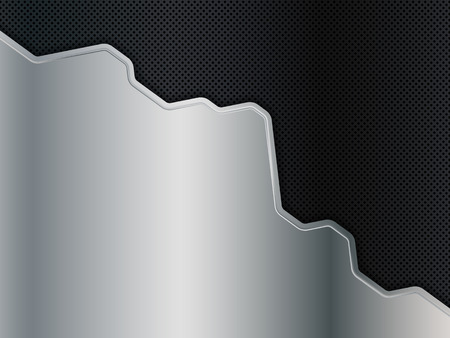 Silver and black metal background. Abstract vector illustration EPS10