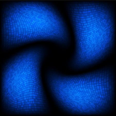 twist: Blue spiral halftone . Abstract Illustration