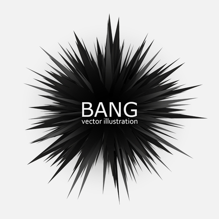 Abstract black explosion banner. Vector illustration EPS10